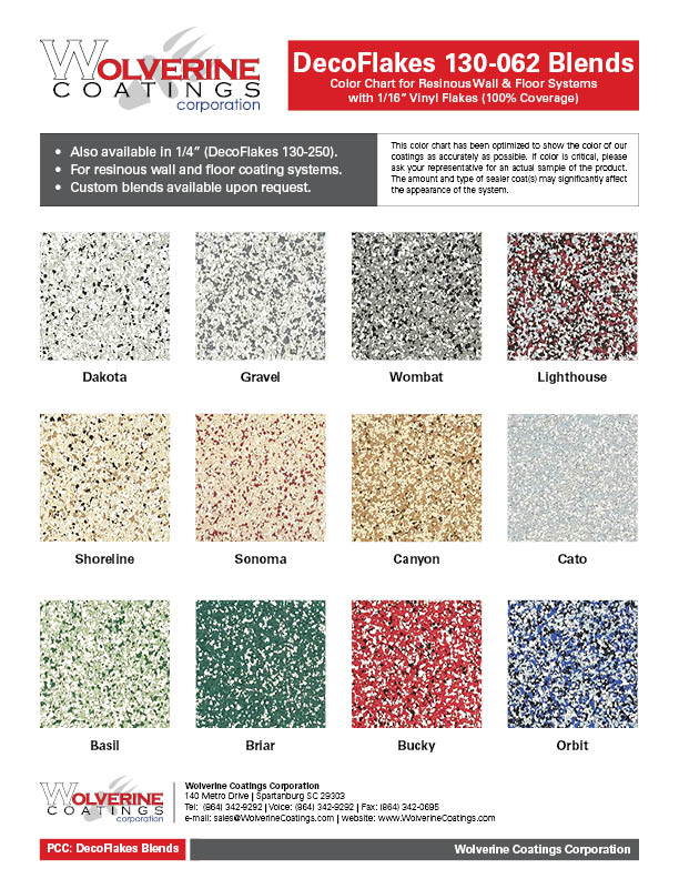 DecoFlakes 130-062 Blends Color Chart-PCC