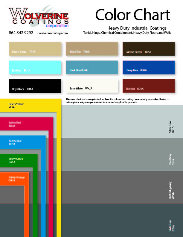Industrial Color Chart-PCC