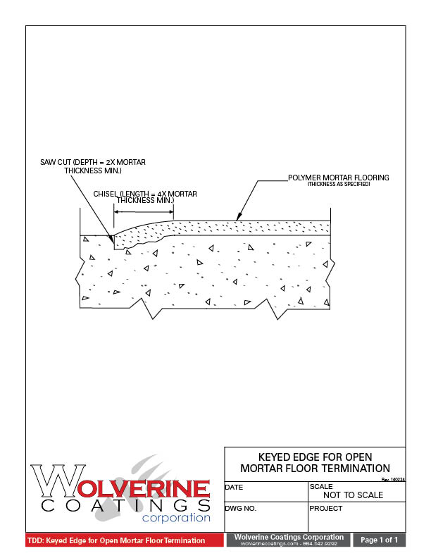 Technical Detail Drawings Tdd Wolverine Coatings