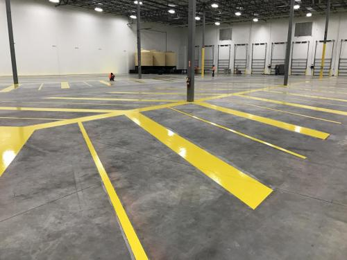 Wolverine Coatings Corporation - Showroom - Safety Striping